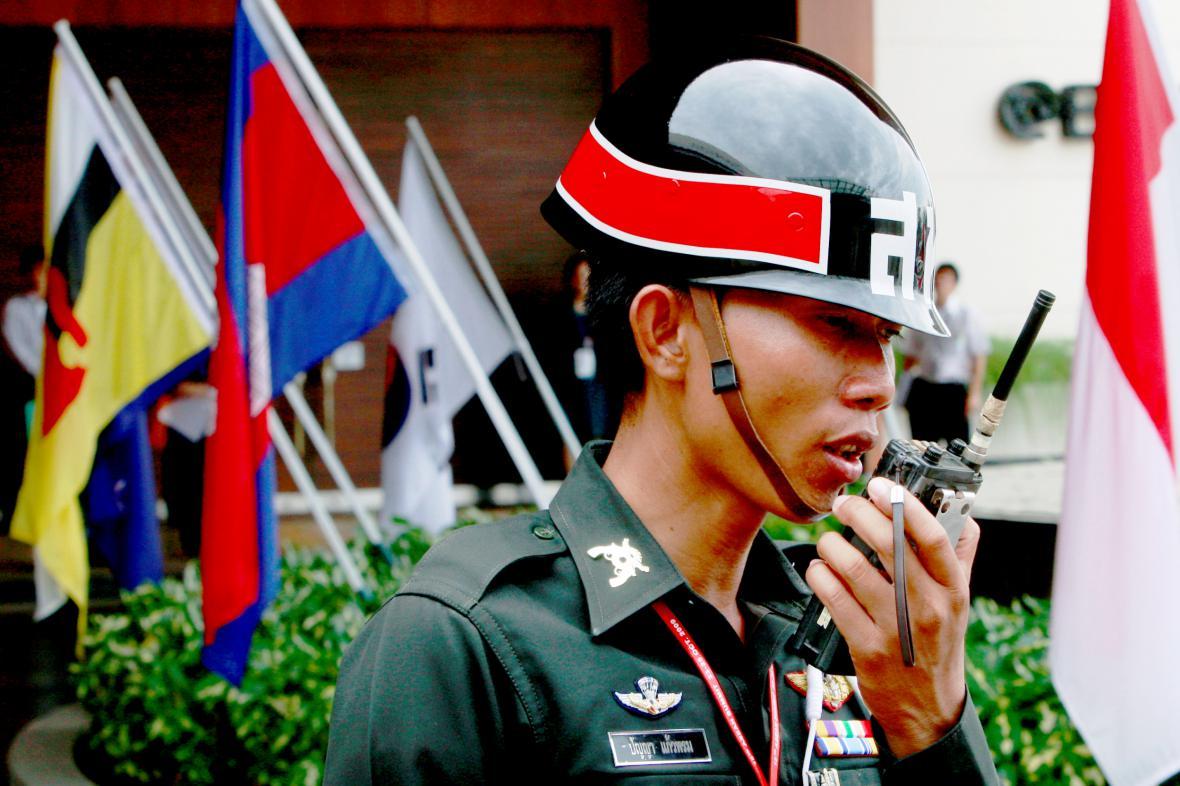 Policistka v thajské provincii Hua Hin
