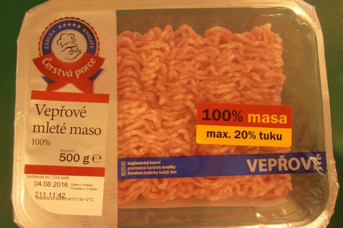 Maso kontaminované bakteriemi salmonely