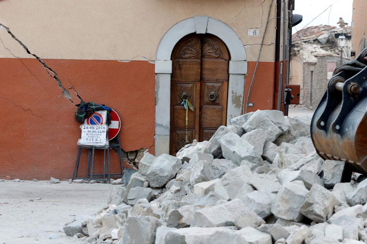 Italské městečko Amatrice po zemětřesení