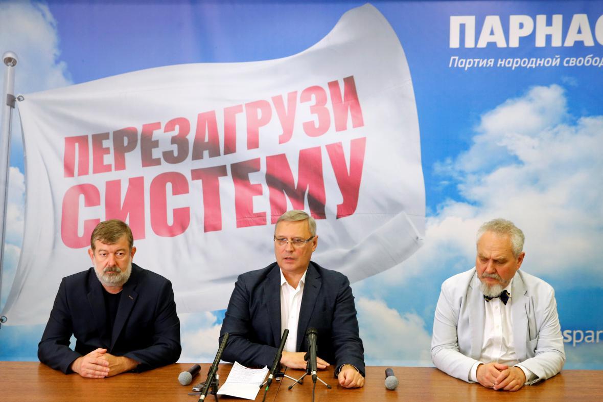 Představitelé ruské opoziční strany PARNAS