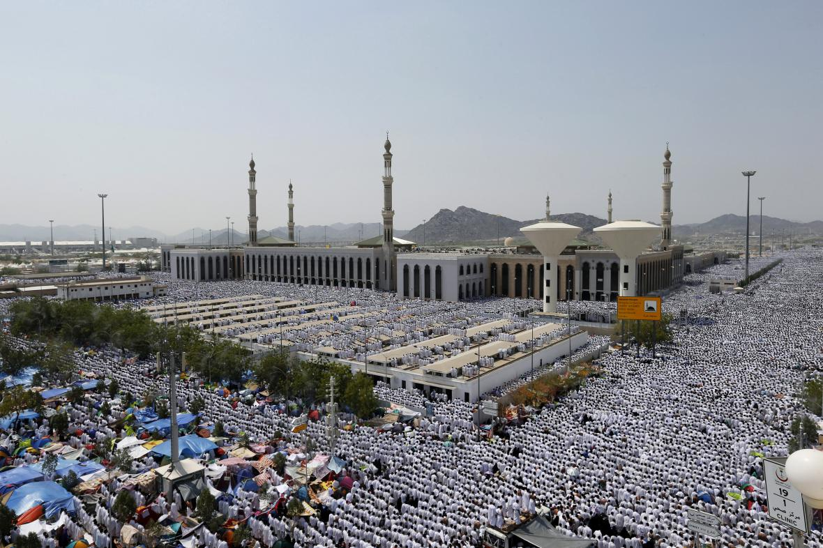 Mešita Namira v okrsku pahorku Arafát.