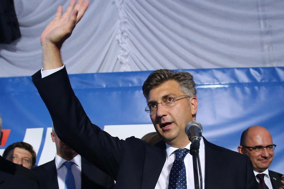 Předseda Chorvatského demokratického společenství Andrej Plenković