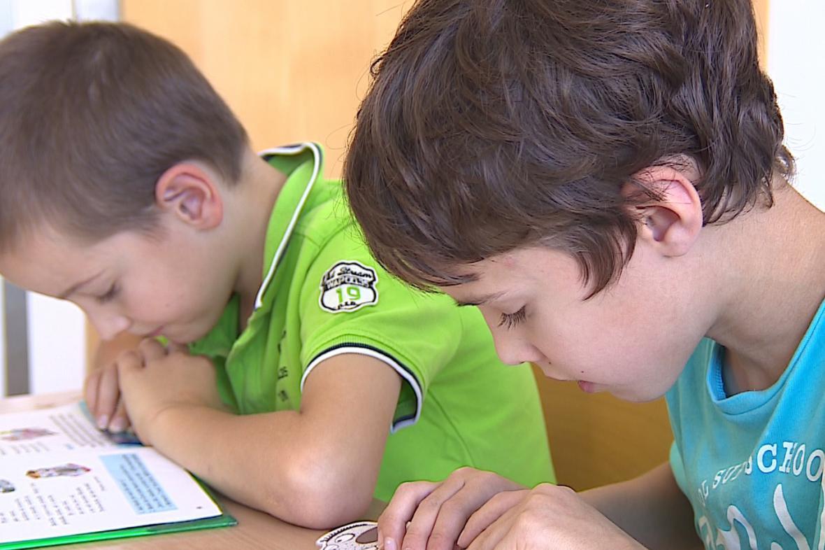 Žáci speciální logopedické školy v Brně