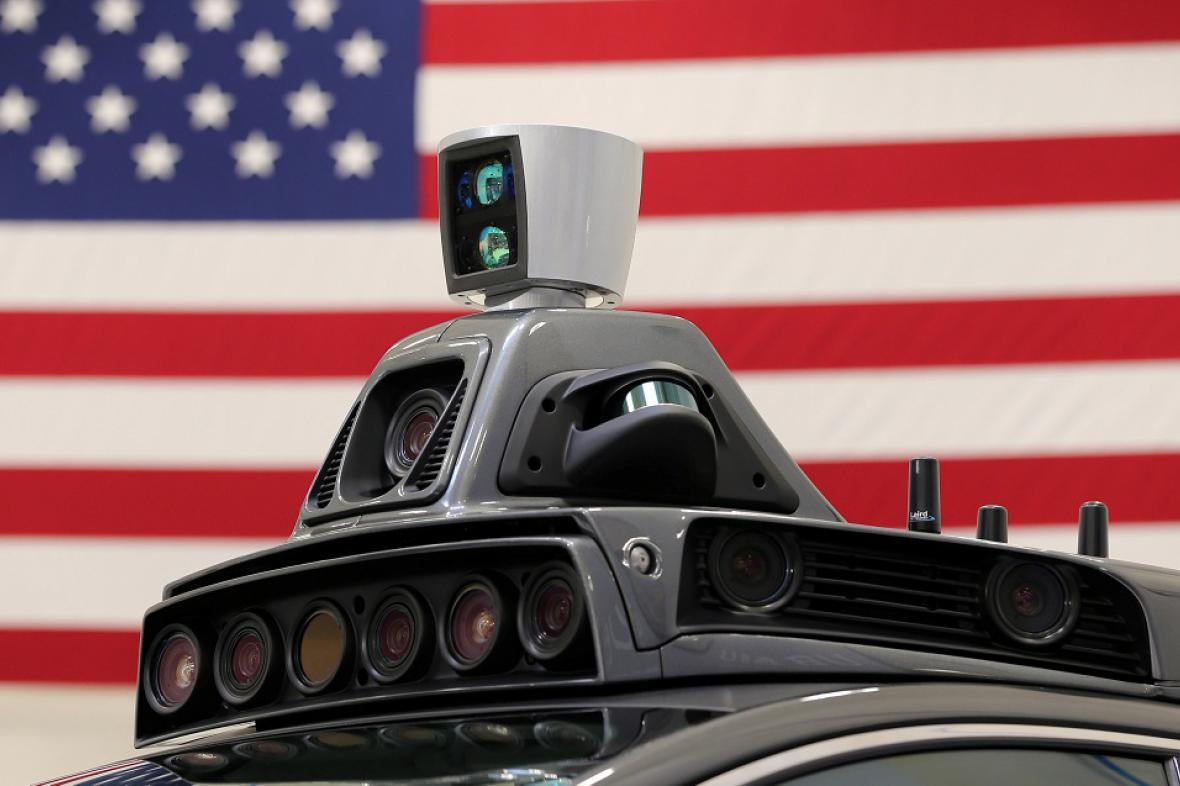 Autonomní automobil Uber
