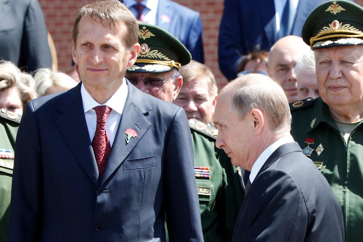 Sergej Naryškin a Vladimir Putin