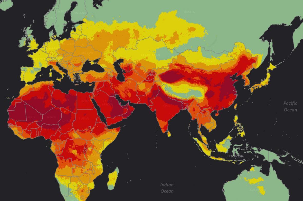 Mapa globálního znečištění