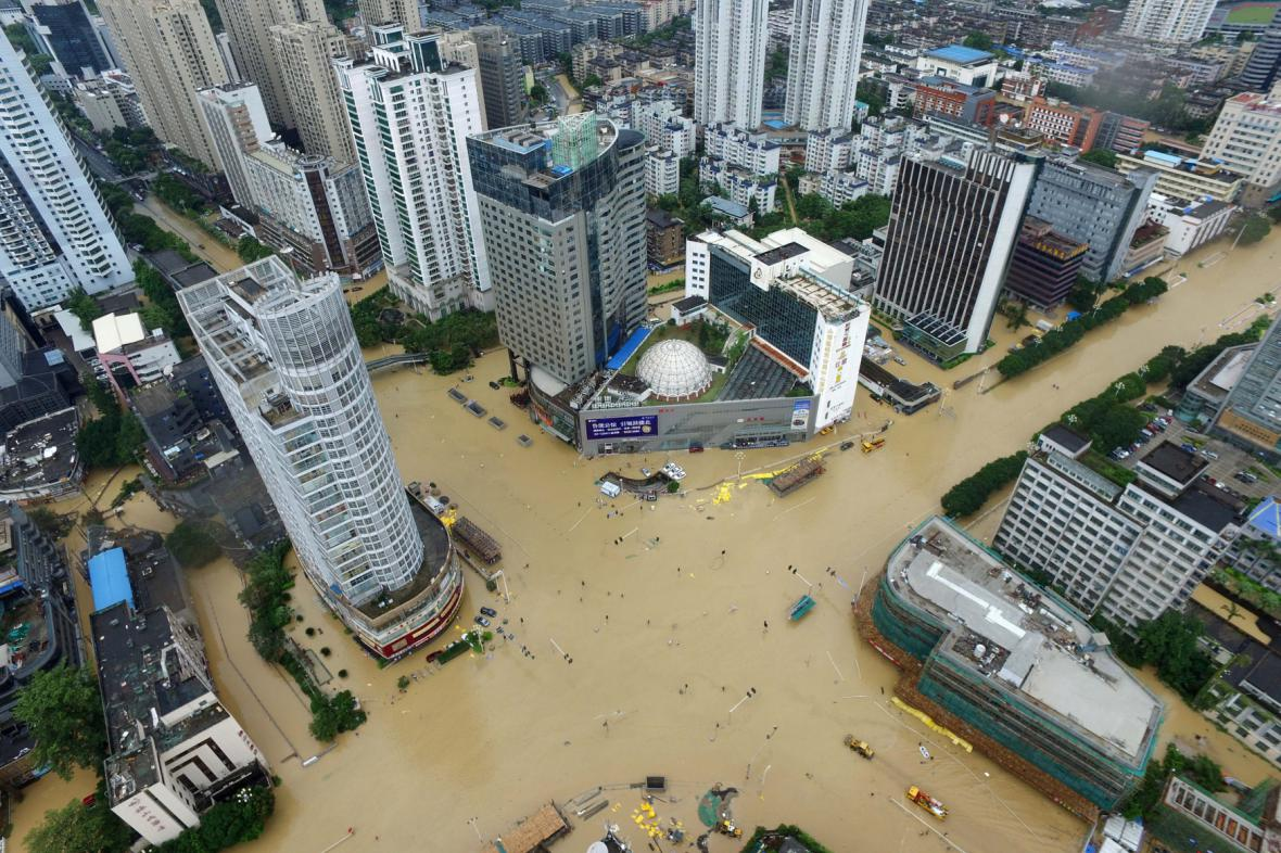 Čína po tajfunu