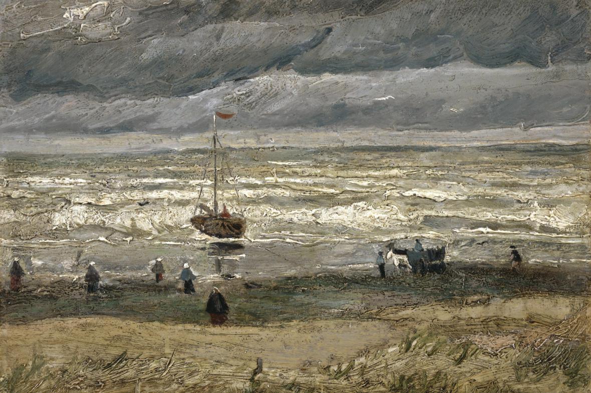Pohled na moře u Scheveningenu