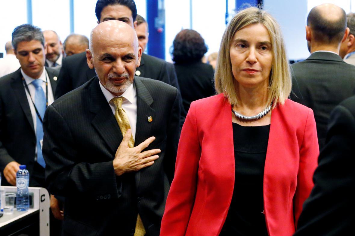 Afghánský prezident Ghaní s šéfkou unijní diplomacie Mogheriniovou