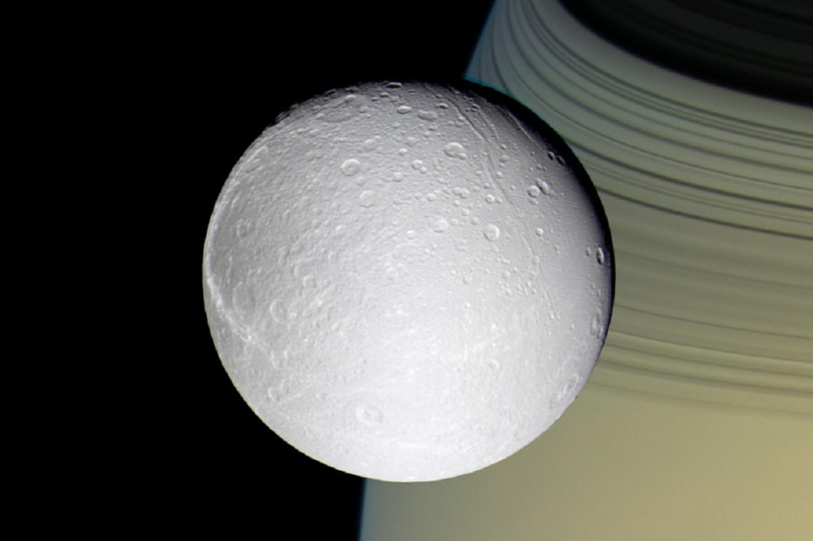 Dione a Saturn
