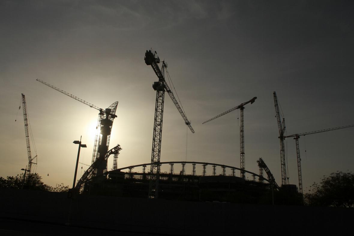 Stavba stadionu v Dauhá