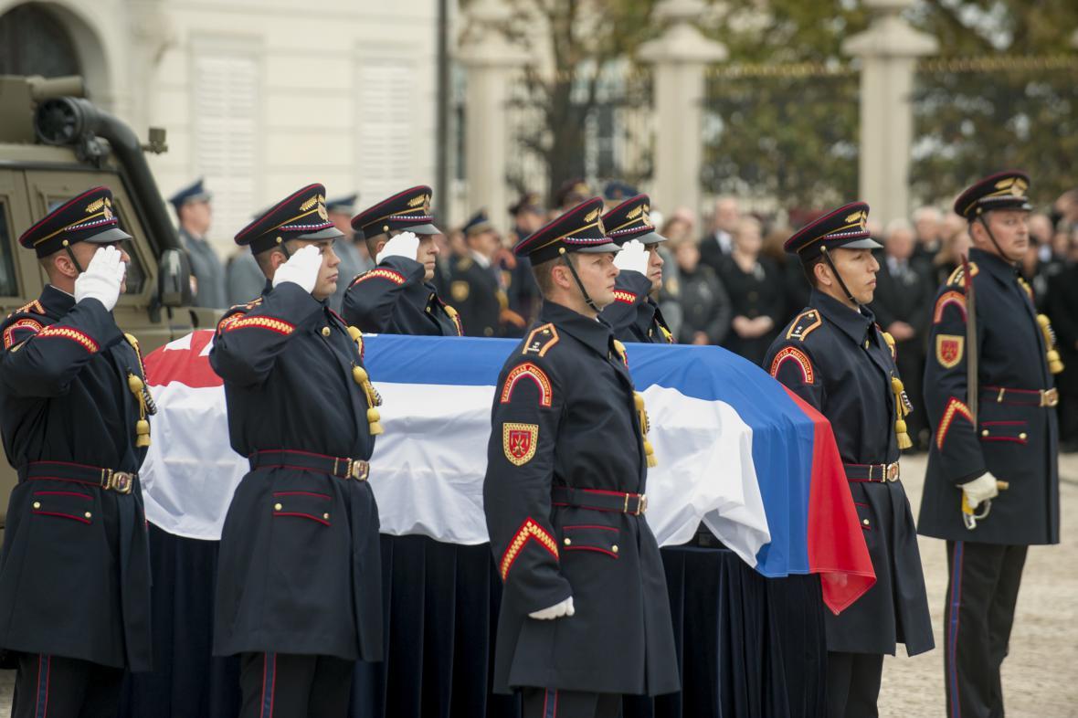 Pohřeb Michala Kováče