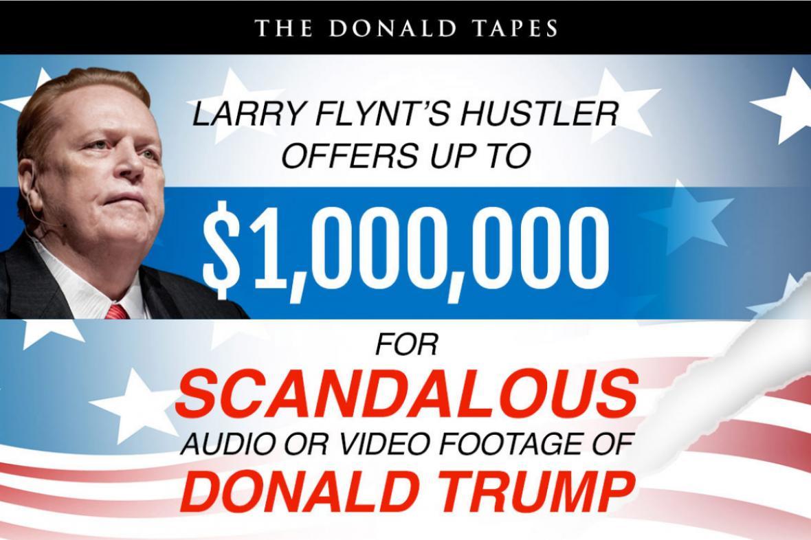 Larry Flint vypsal odměnu za nahrávku s Trumpem