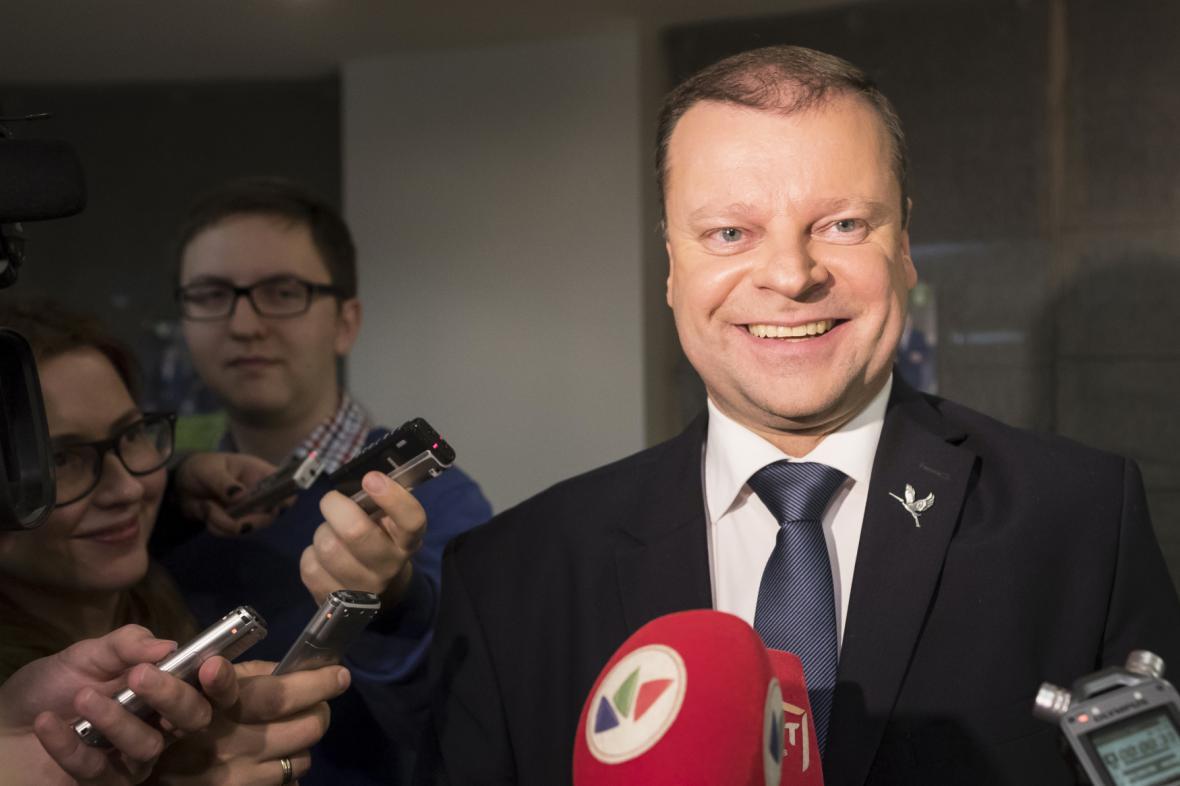 Pravděpodobný nový litevský premiér Saulius Skvernelis (LVŽS).