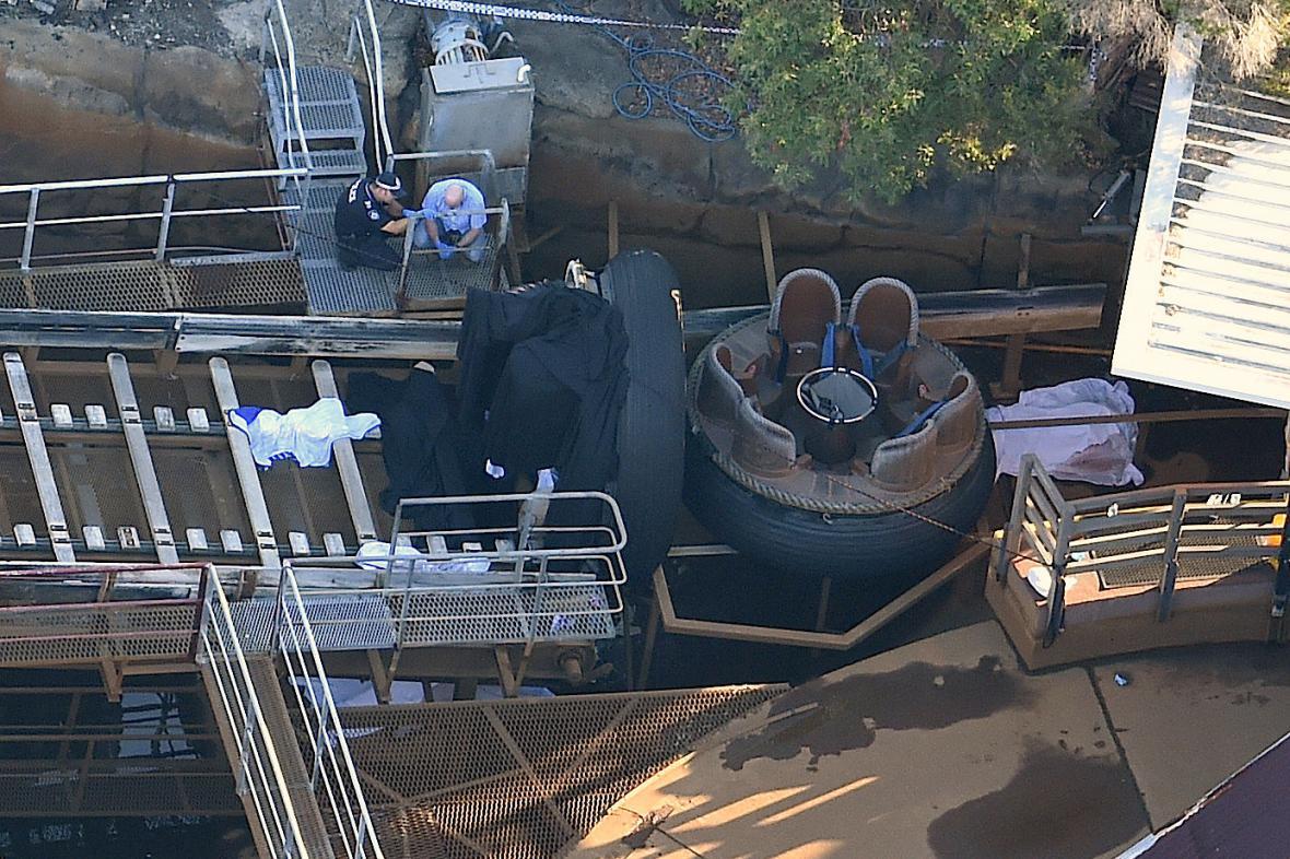 Atrakce v parku Dreamworld po nehodě