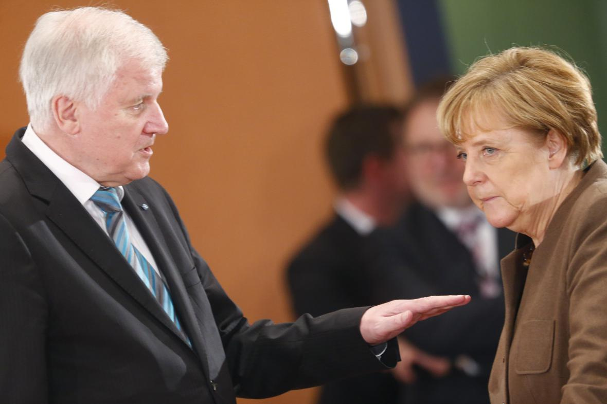 Horst Seehofer s Angelou Merkelovou