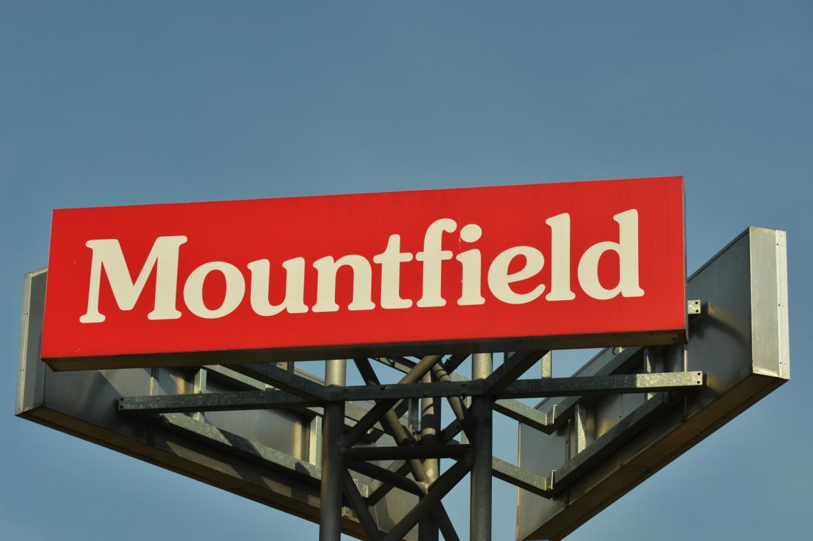 Reklamní cedule společnosti Mountfield