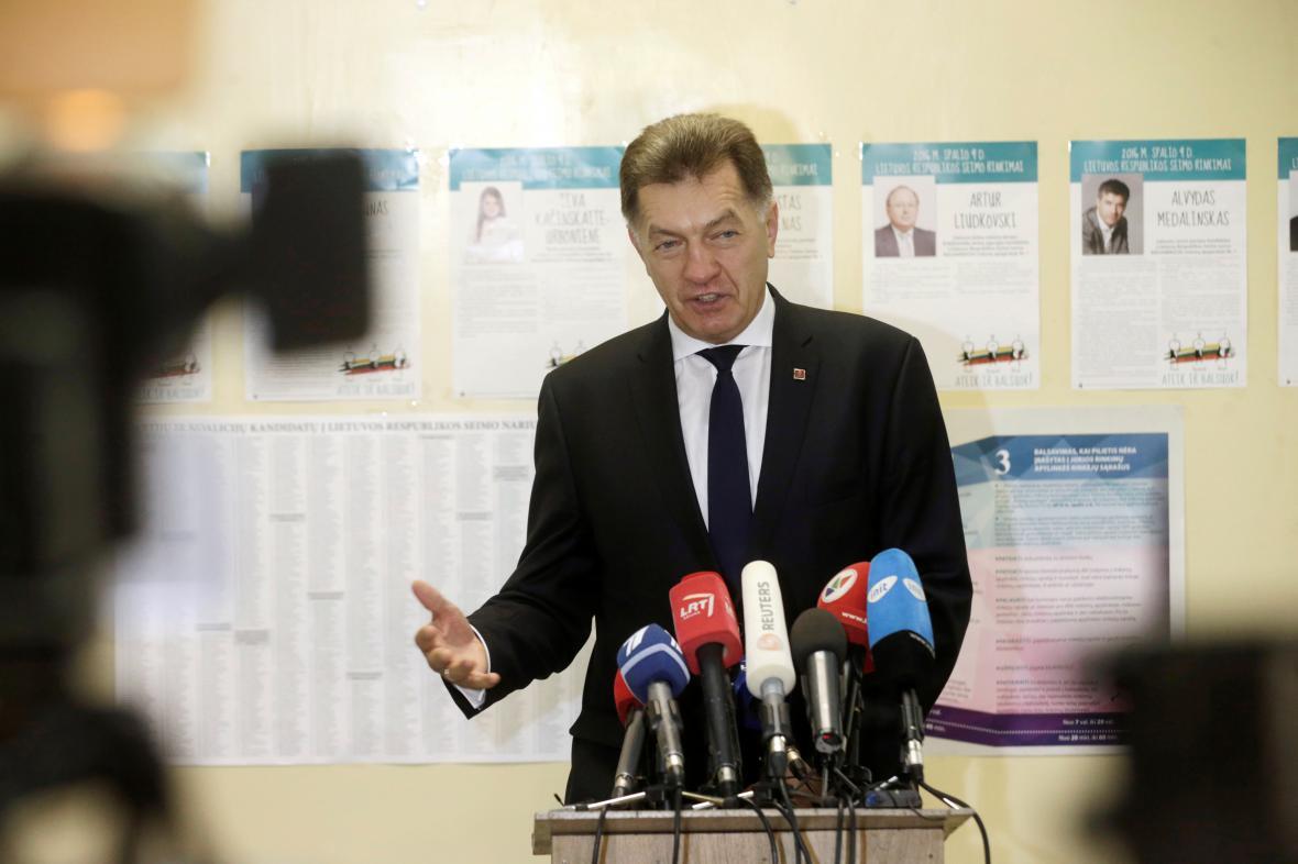 Předseda sociálních demokratů Algirdas Butkevičius