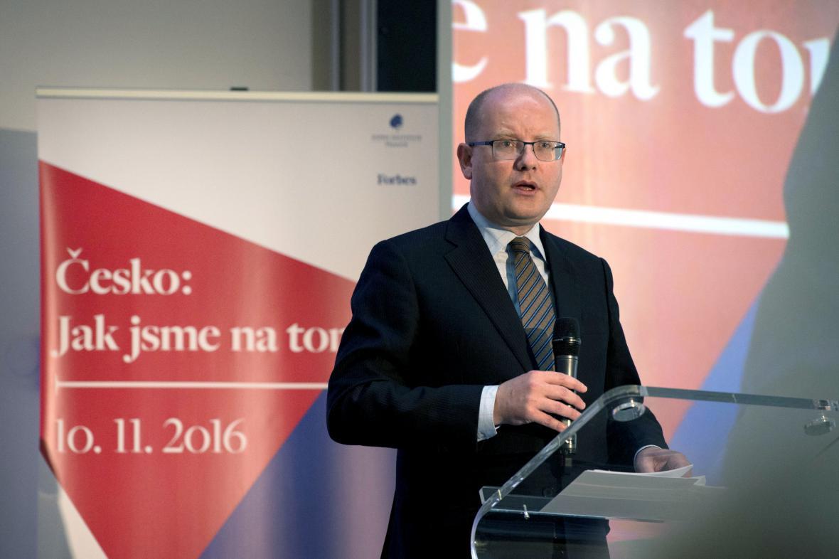 Premiér Bohuslav Sobotka vystoupil na konferenci nazvané Česko: Jak jsme na tom?