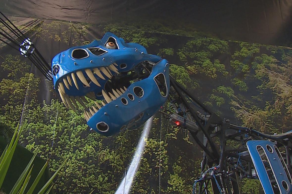 Kostra robotického tyranosaura