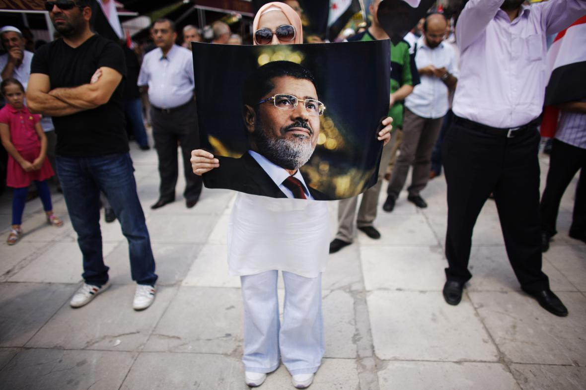 Demonstrace na podporu Mursího