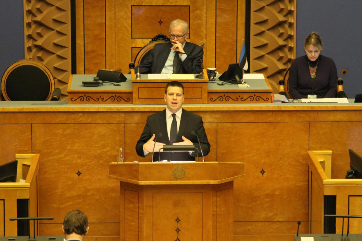 Estonský premiér Juri Ratas