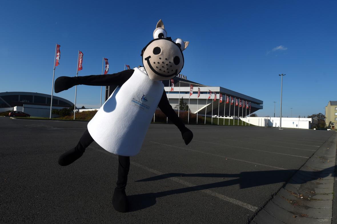 Maskot ostravského šampionátu evropského mistrovství v krasobruslení