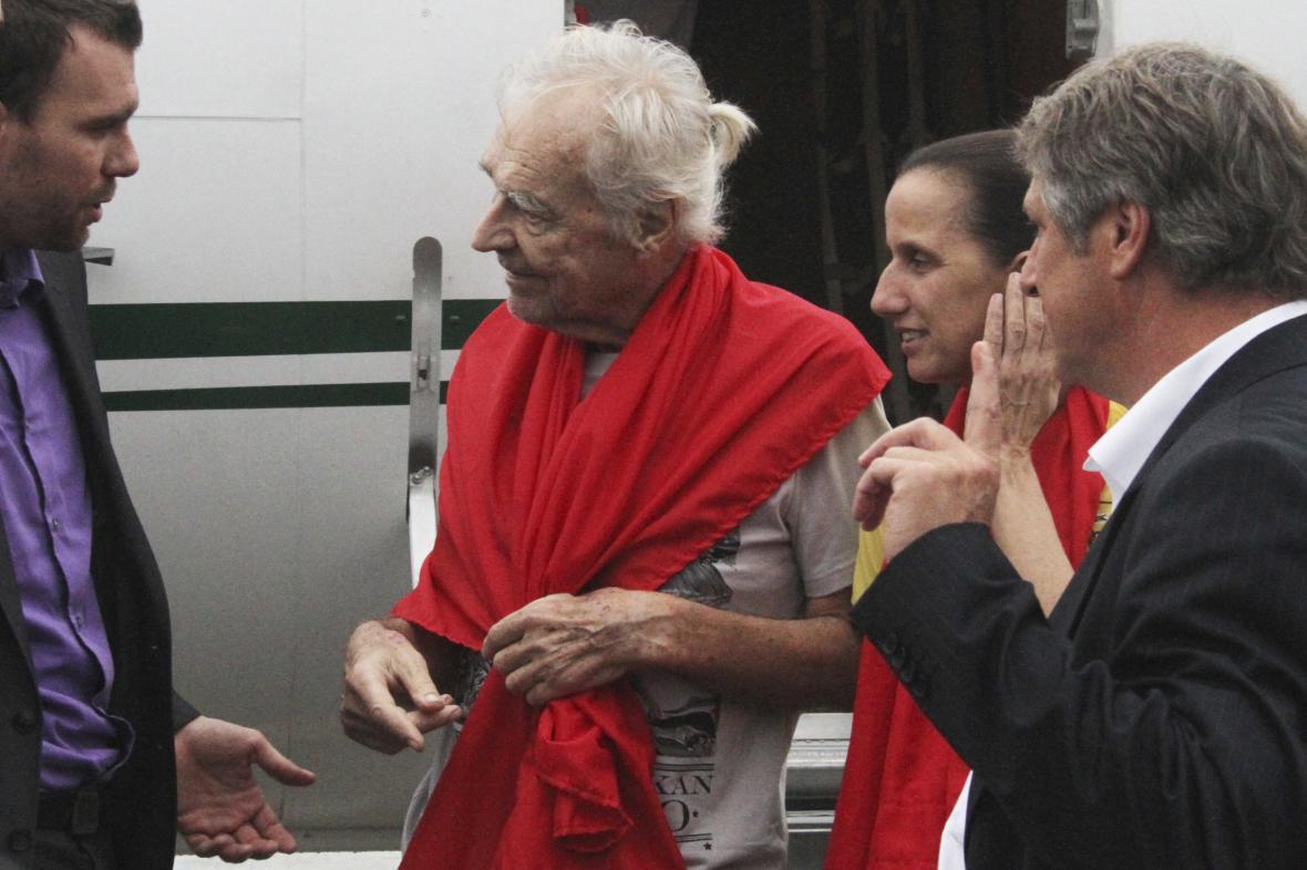 Henrike Dielenová a Stefan Okonek po propuštění ze zajetí