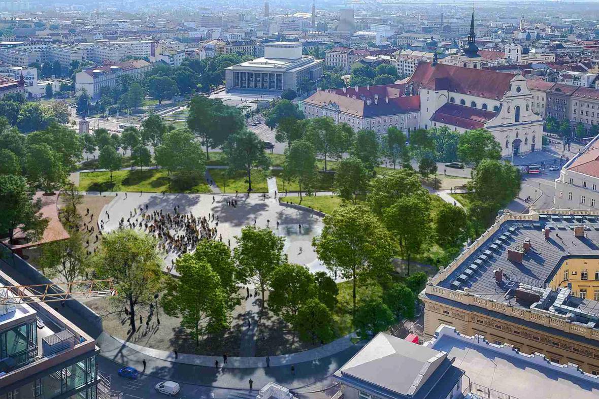 Stávající park se promění v rekreační zónu