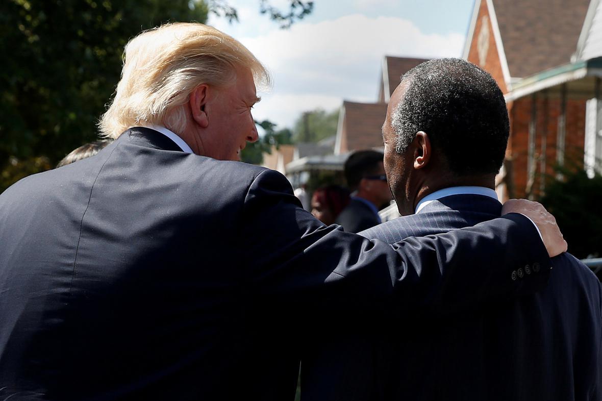 Donald Trump s Benem Carsonem