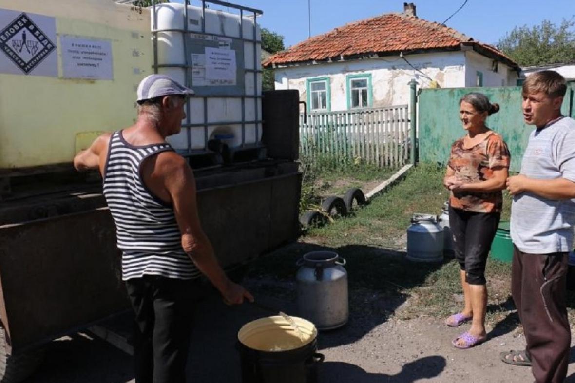 Distribuce pitné vody v Doněcku