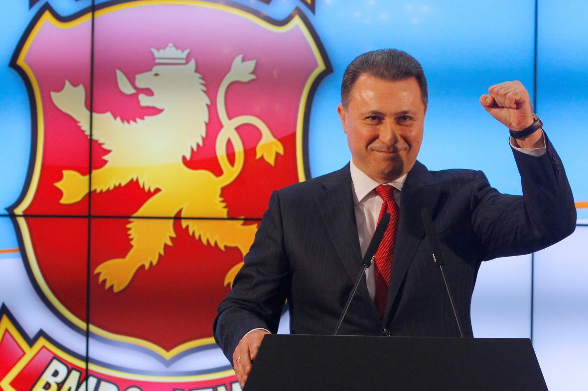 Předseda VMRO DPMNE Nikola Gruevski