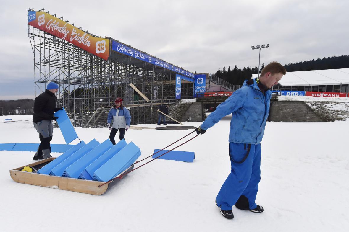 Přípravy na Světový pohár ve Vysočina Aréně vrcholí