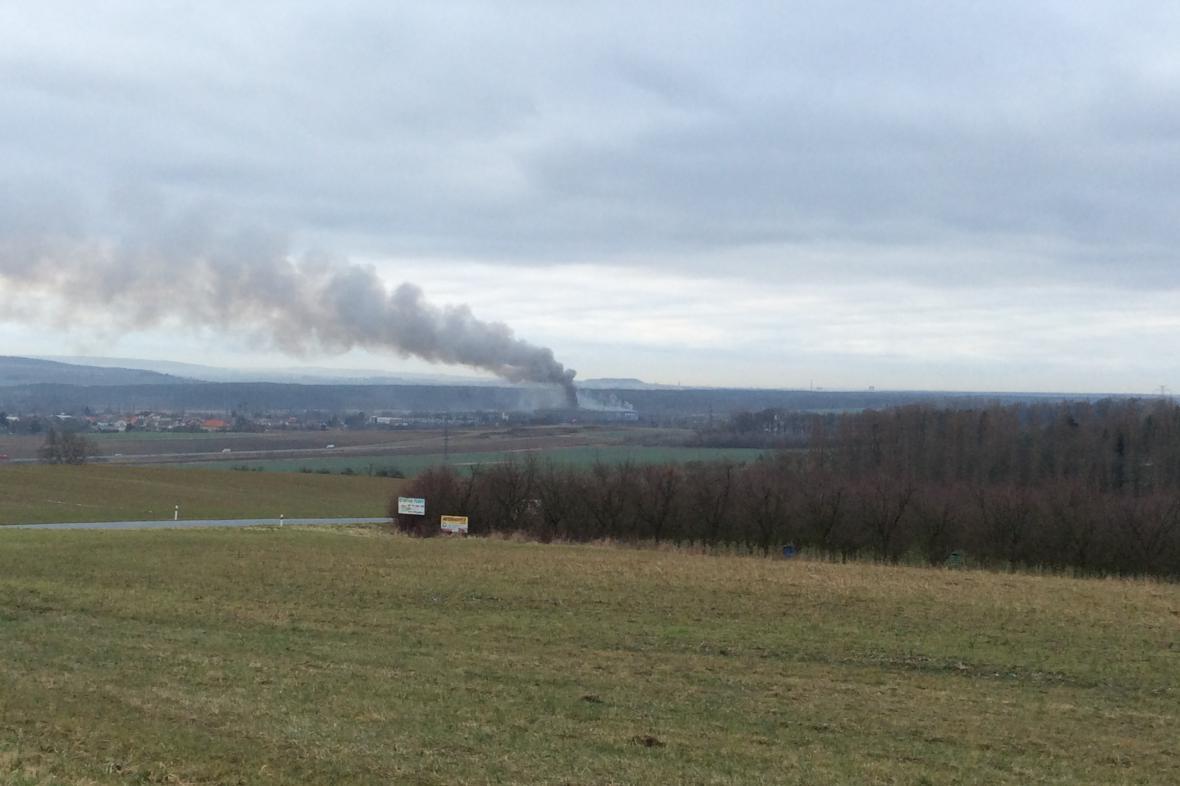 V Tlumačově vypukl rozsáhlý požár