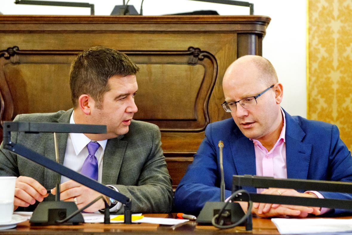 Jan Hamáček a Bohuslav Sobotka