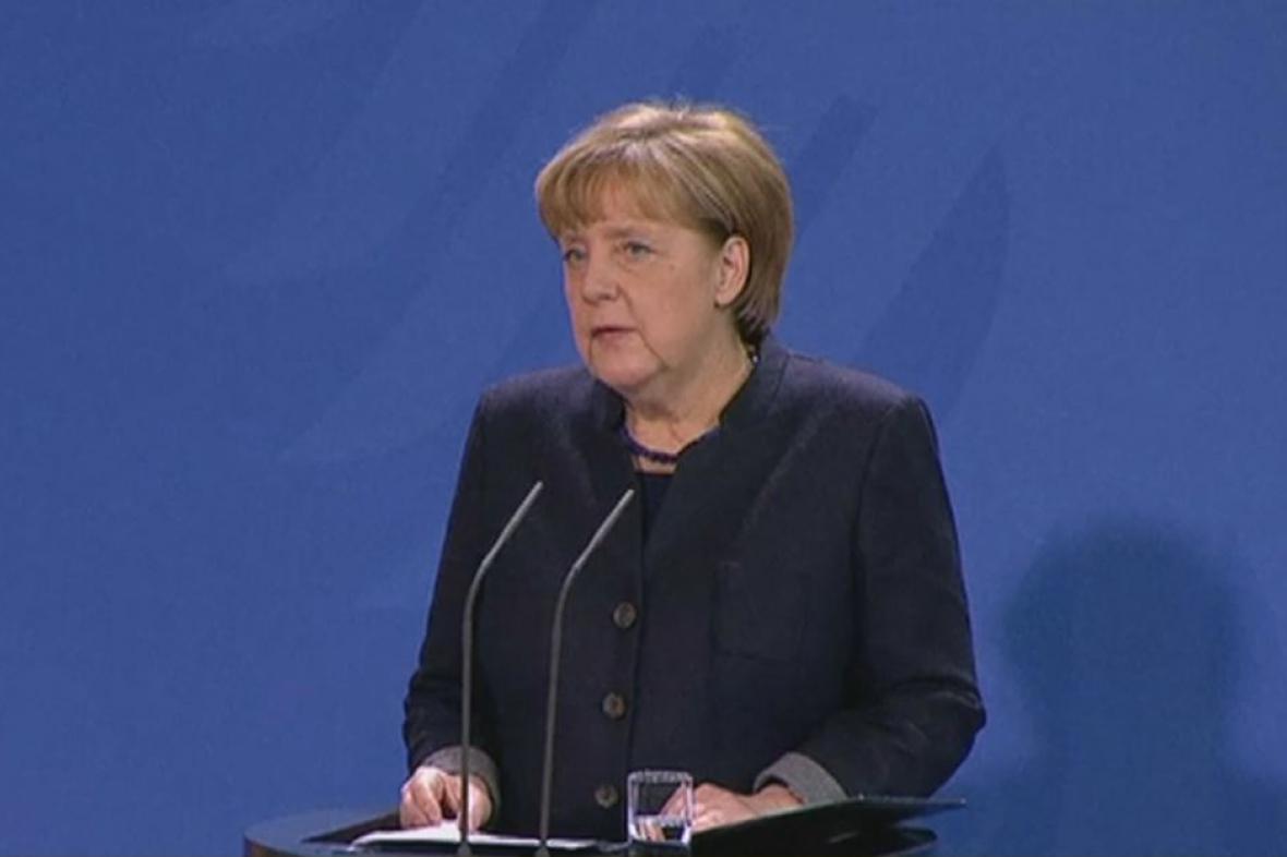 Kancléřka Angela Merkelová k útoku v Berlíně