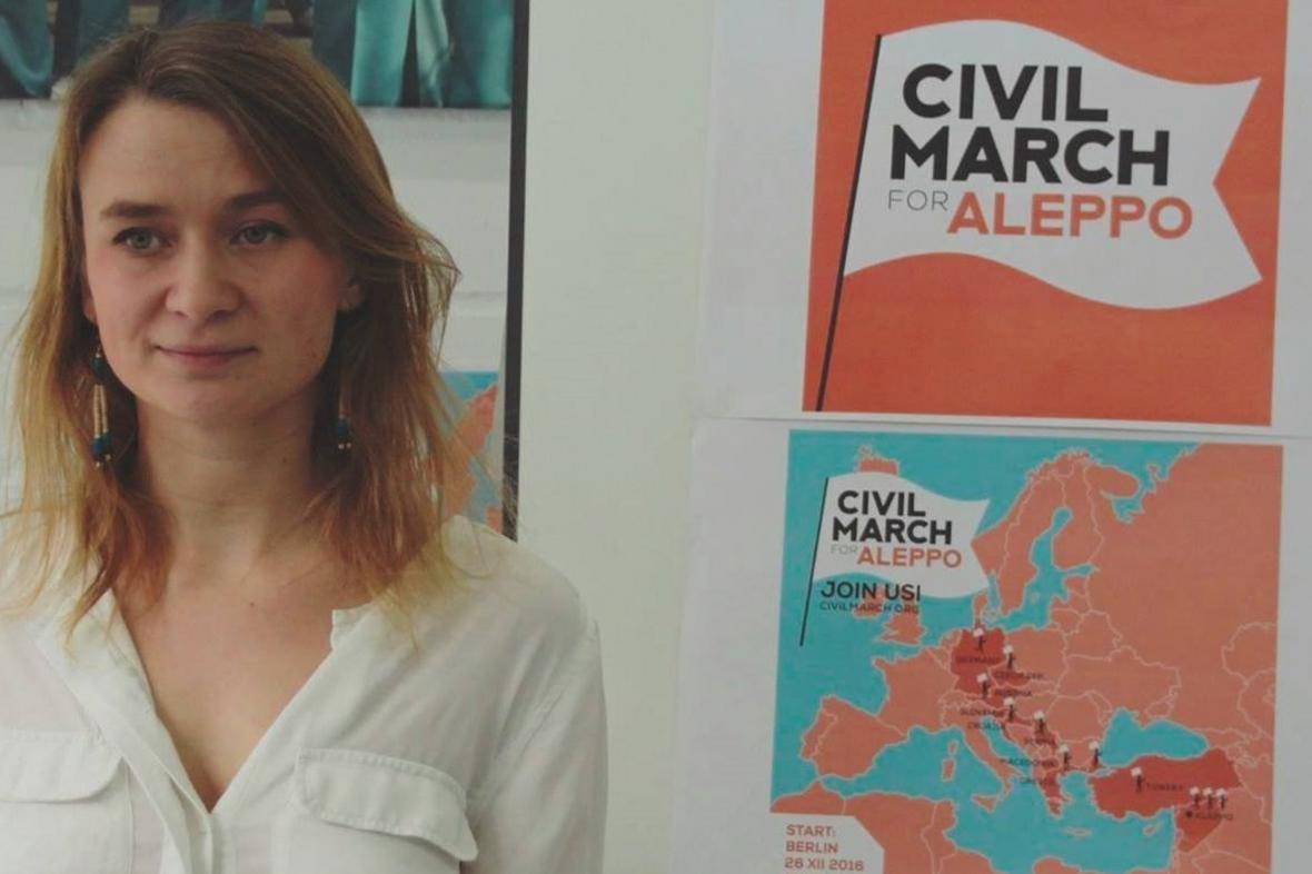 Anna Albothová organizuje pochod pro Aleppo