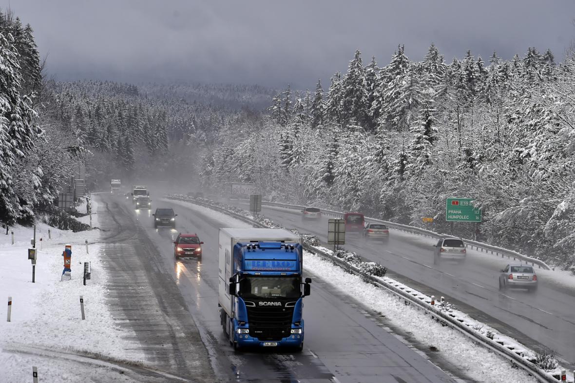 Dálnice v zimě