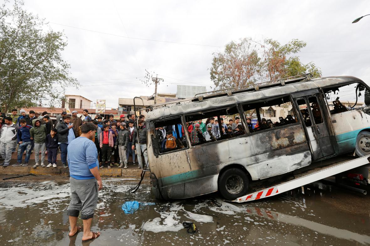 Místo útoku v bagdádské čtvrti Sadr