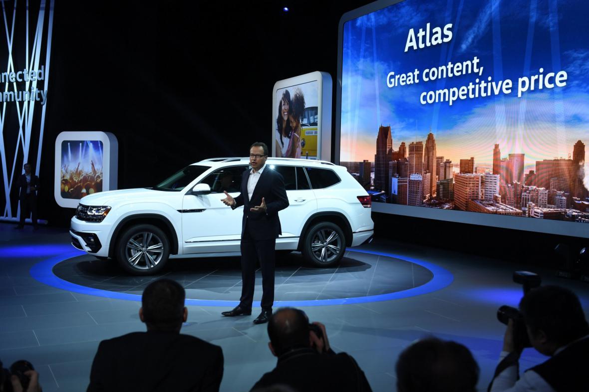 Na probíhajícím autosalonu v Detroitu VW představil mj. SUV Atlas.