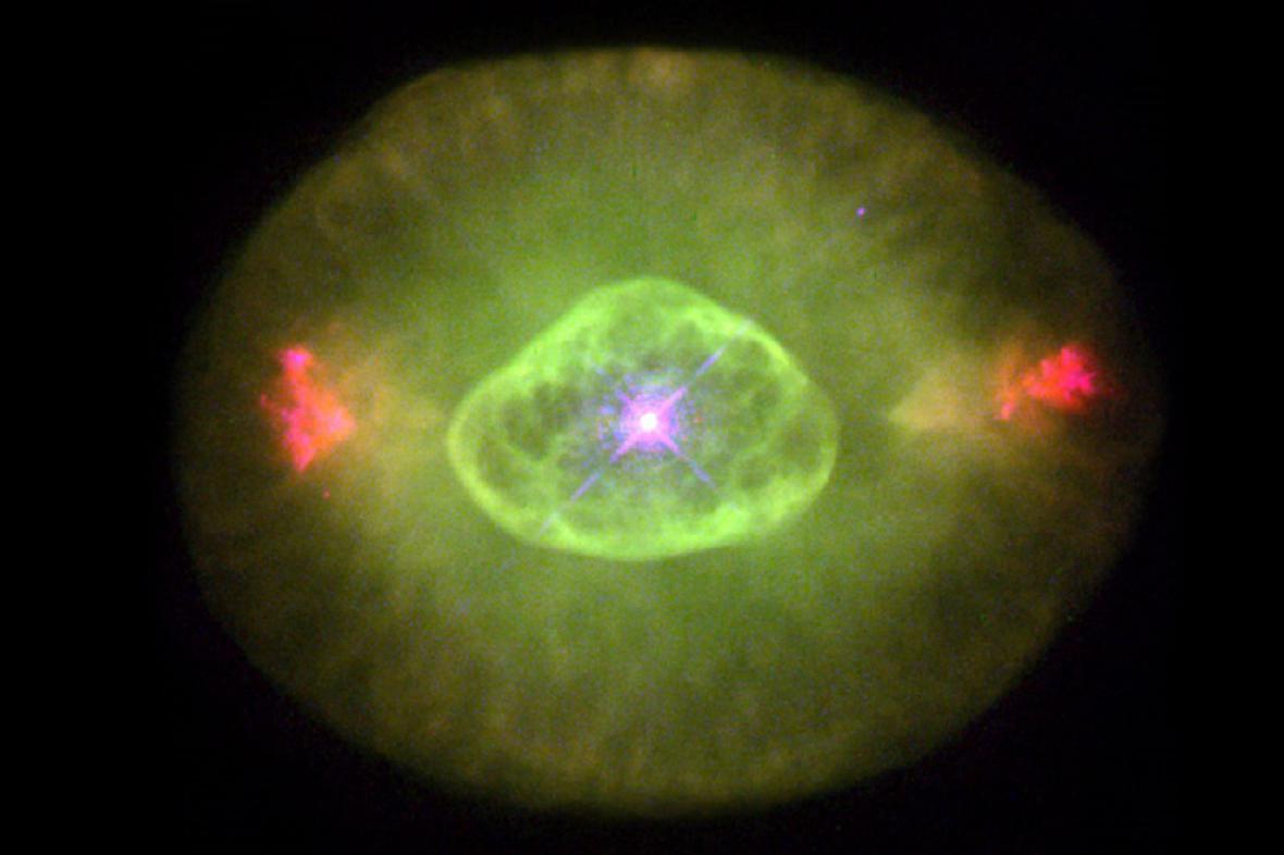 Zelené světlo ve vesmíru