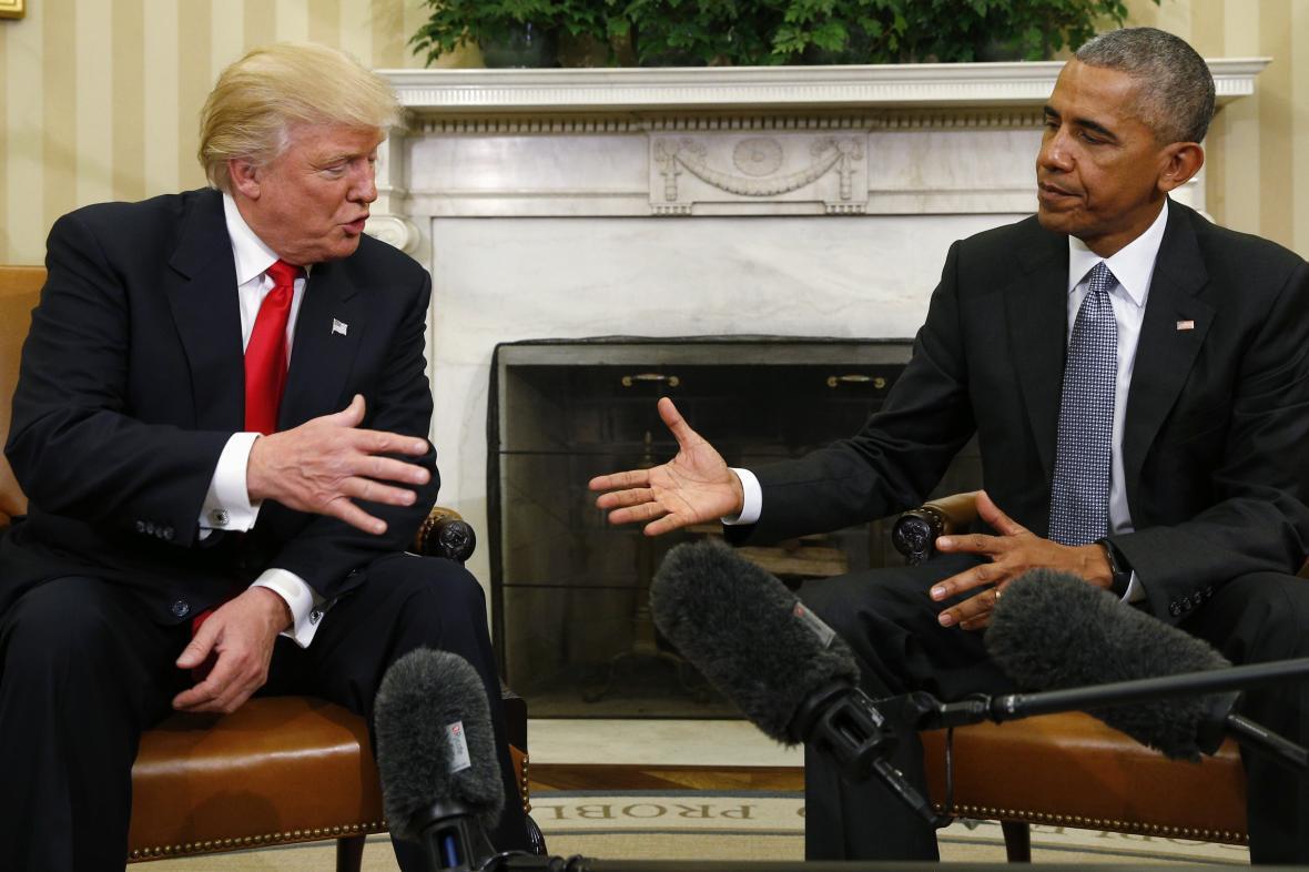 Trump při jednání s Obamou krátce po svém zvolení