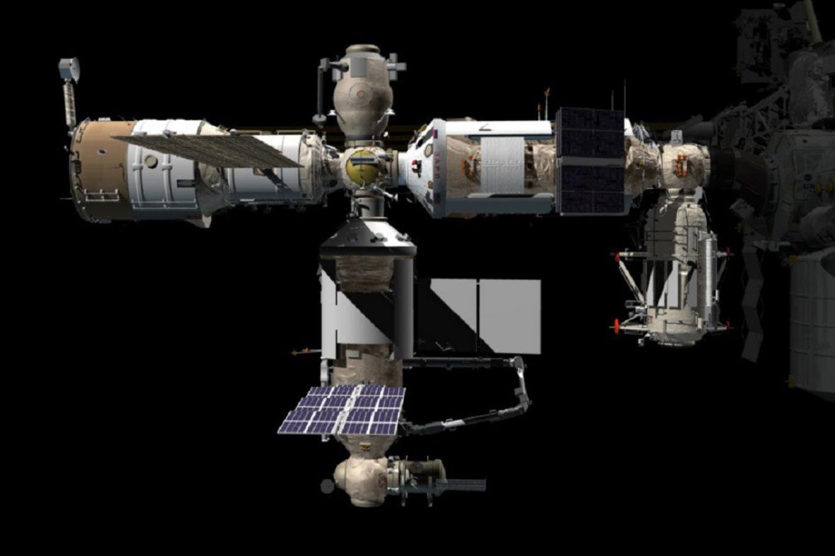 Modul Nauka bude na dolní části ISS