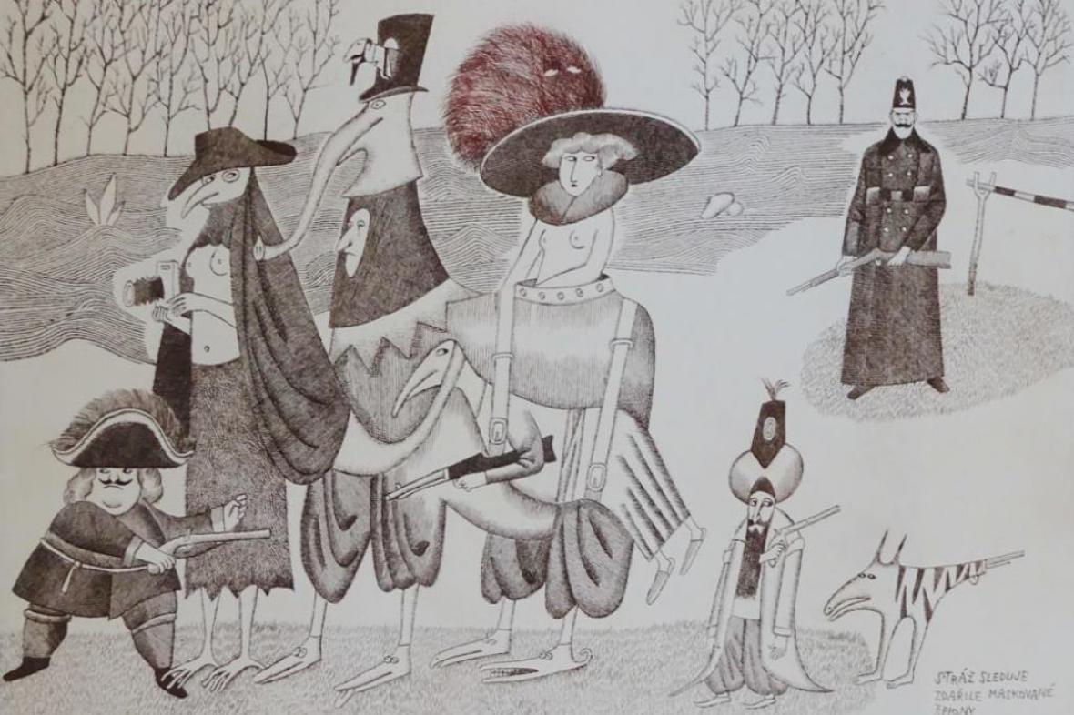 Z výstavy Adolfa Borna