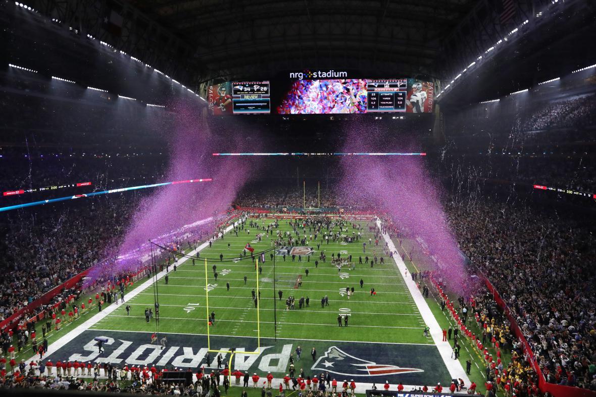 Letošní finále ligy amerického fotbalu se konalo na stadionu v Houstonu