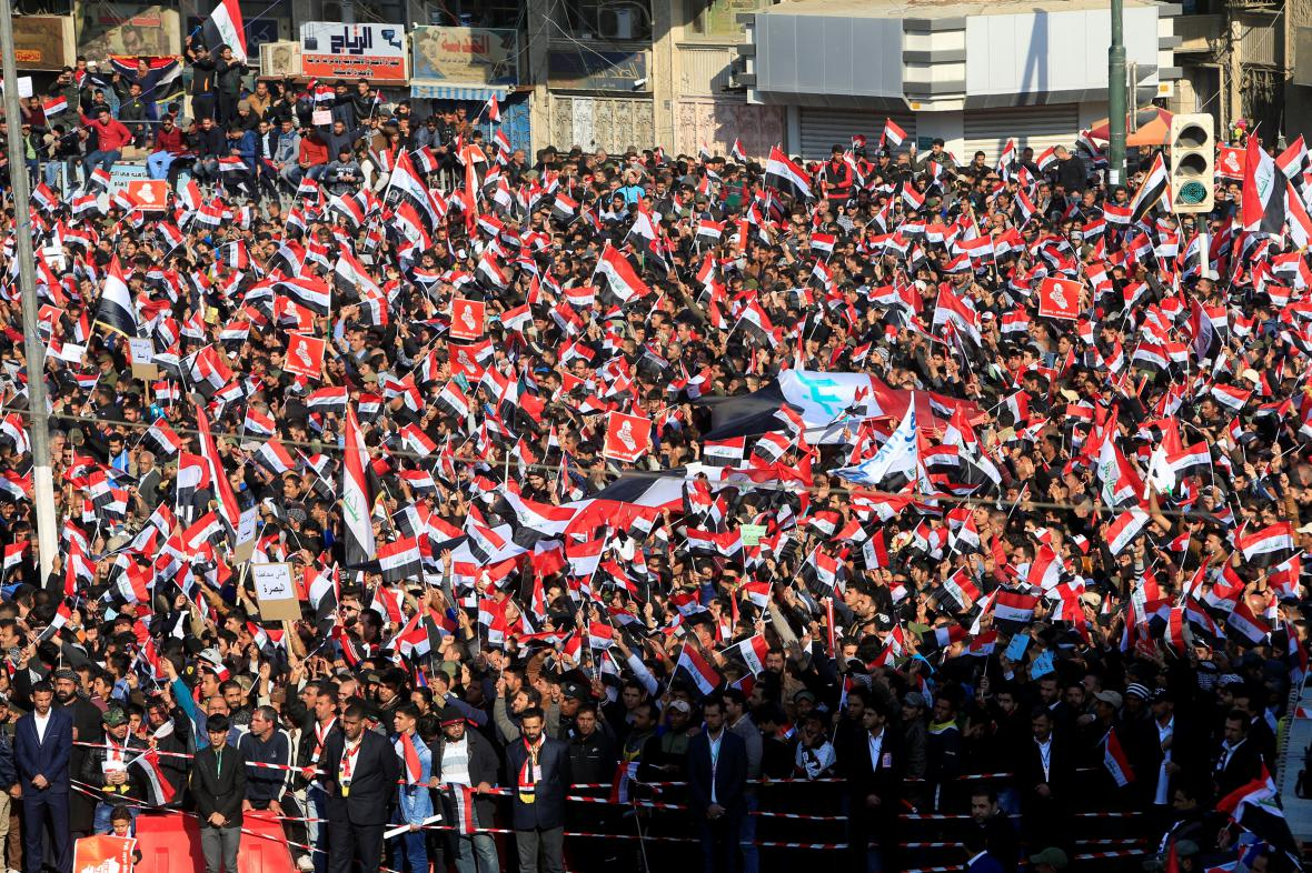 Šíitské protesty v Bagdádu