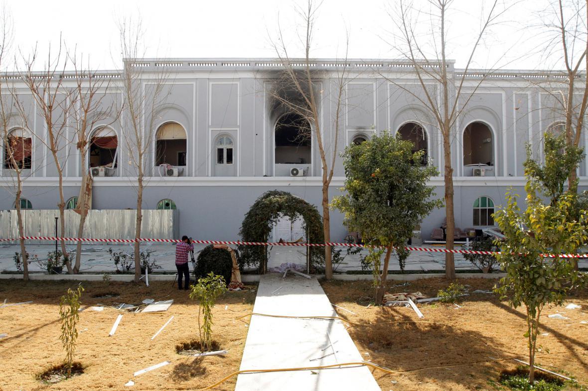 Místo atentátu, rezidence guvernéra v Kandaháru