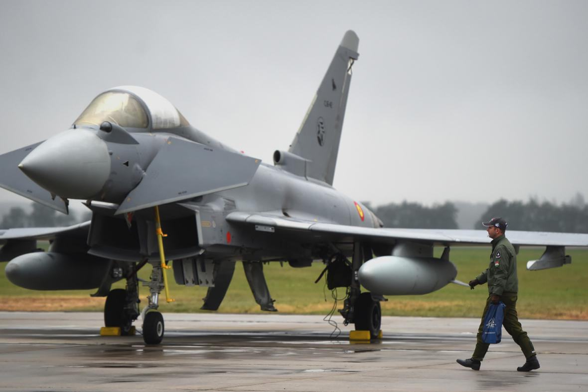 Stíhačka Eurofighter Typhoon