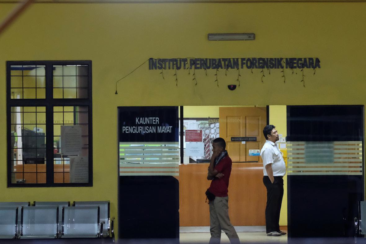 Márnice v Kuala Lumpuru, kde probíhá druhá pitva těla Kim Čong-nama