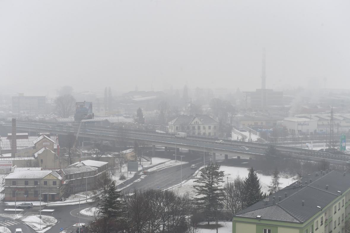 Prostějov ve smogu (17.2.)